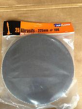Lot  25 disque Metland abrasif  treillis ponceuse GIRAFE 225 mm grain 100