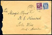 NORWAY TO USA NOTODDEN Cancel on Cover 1923 VF