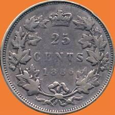 1886 Canada 25 Cent Silver Coin (5.81 Grams .925 Silver)