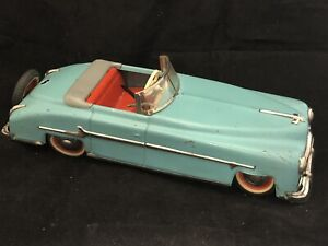 "1950 DISTLER PACKARD 10"" US ZONE GERMANY WINDUP TIN TOY"