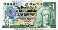 Royal Bank of Scotland cumbre europea de Edimburgo Billete Conmemorativo £ 1