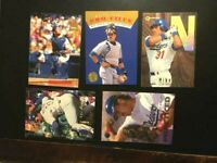5 MIKE PIAZZA METS,DODGERS BASEBALL CARDS LOT  🔥NM-MT-FREE SHIP