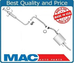 MIddle Resonator & Muffler Exhaust System For 1990-1992 Toyota Corolla 1.6L