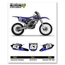 2014 YAMAHA YZF 450 Dirt Bike Graphics Custom Number Plates