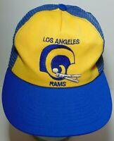 Old Vintage 1980s LOS ANGELES RAMS NFL FOOTBALL HELMET SNAPBACK TRUCKER HAT CAP