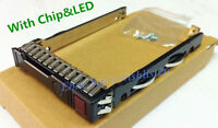 "New HP G8 Gen8 G9 651687-001 2.5"" SFF SAS Tray Caddy 653955 DL380p with chip LED"
