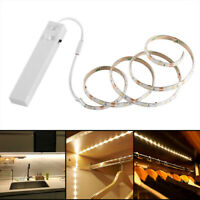 Led PIR Sensor Strip Motion Activated Bed Light Battery Operated Warm White