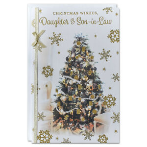 DAUGHTER & SON~IN~LAW CHRISTMAS CARD ~ EXTRA LARGE 8 PAGE VERSE ~ QUALITY CARD
