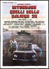 RITORNANO QUELLI DELLA CALIBRO 38 MANIFESTO POLIZIESCO ALFA ROMEO 1977 POSTER 4F