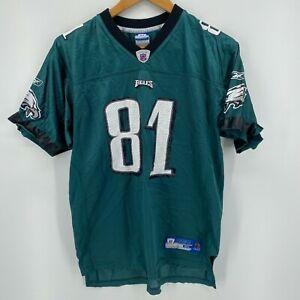 Reebok Football Jersey Youth XL Green Philadelphia Eagles #81 Terrell Owens