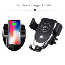Wireless Car Charger Mount Gravity Air Vent Phone Holder for iPhone Samsung