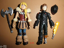 ASTRID & HICCUP black mask RARE How To Train Your Dragon 2 FIGURE toy SET