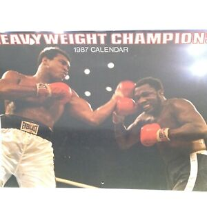 Vintage 1987 Heavyweight Champions BOXING Calendar Ali Frazier Clay Patterson