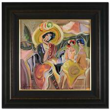 """A MOMENT IN TIME"" by ISAAC MAIMON. ORIGINAL ACRYLIC PAINTING ON CANVAS! FRAMED"