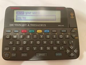 Vtg Franklin Bookman MWD 640 Electronic Dictionary & Thesaurus TESTED! WORKS!