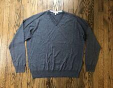 New Recent Peter Millar Mens Wool & Silk V-Neck Pullover Sweater Size XL