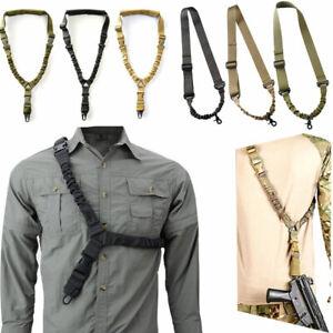 Single Point Bungee Rifle Sling Gun Shoulder Pad Strap Tape Outdoor Belt Tools