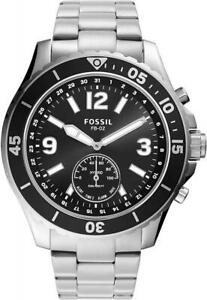 Mens Hybrid Smartwatch FOSSIL FB-02 FTW1303 Stainless Steel Black
