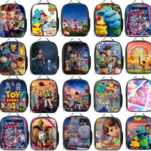 HOT Lunch Bag Toy Story 4 Insulated School Boys Girls Lunch Box Snack Picnic UK