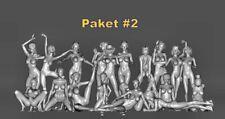 20x Akt Erotische Frauen Figuren - PAKET #2 - H0 - unbemalt