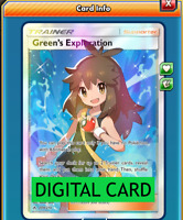Green's Exploration Full Art - 209/214 Unbroken Bonds PTCGO Online Digital Card