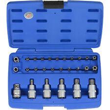 Juego Puntas Vasos TORX T10 - T70 Normales y Inviolables - Bgs 5101