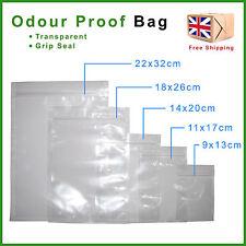 Smell Proof Mylar Plastic Bags Food & Herb Safe Stash Grip Lock Seal Odour Free