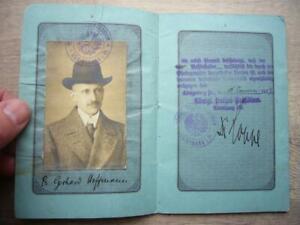 33) Reisepaß - Königreich PREUSSEN - KÖNIGSBERG Ostpreussen 1917 - Chorzelle !