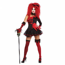Jesterina Clown Halloween Fancy Dress Outfit Costume - Size 8-10