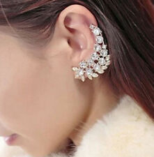 Unbranded Alloy Crystal Cuff Costume Earrings