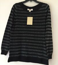 MICHAEL Michael Kors Lurex Stripe Sweater. Size M.