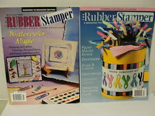 The Rubber Stamper Vintage Magazine 2 each 1999, 2007 Watercolor Magic Ideas
