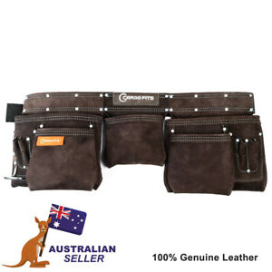 Professional PRO Cargo Fits CR-180113 Double Stitched Leather Tool Belt / Apron