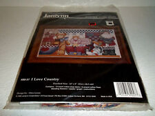 Janlynn Cross Stitch Kit I Love Country Vtg But NEW Sealed
