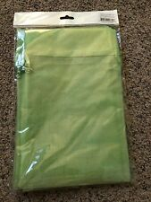 6 Pcs LIME GREEN Organza Jewelry Drawstring Pouch Bag 6 by 9 inches NIP