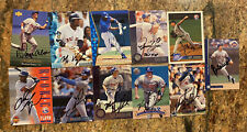 MLB Autographed Baseball Card Lot- Mo Vaughn, Moises Alou, Rey Ordonez, Others.