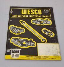 Vintage Parts Catalog Wesco Agricultural Universal Joints 1960s