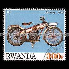 ★ BEKAMO 1922 129 cc 3.5 HP ★ RWANDA Timbre Moto / Motorcycle Stamp #397