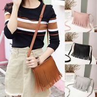 Women Shoulder Bags Tassel Messenger Satchel Tote Crossbody Bag Small Handbag
