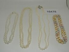 Vintage Jewelry LOT OF 4 Necklaces WHITE BEADS 16478