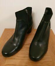 Clarks Unstructured para mujer Botas al Tobillo Ancho Fit Negro Tacones UK 7.5E Inmaculada