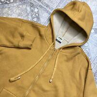 PJ Mark Full Zip Hooded Sherpa Lined Sweatshirt Adult M Medium Hoodie Orange Men
