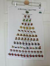 A New York Christmas Tea Towel David Price 12 Days Collectible with Tags Nyc