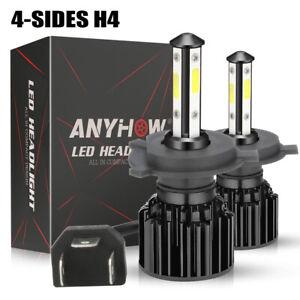 4-Sides CREE H4 LED Headlight Kit Bulbs Hi/Lo Beam 6500K 9003 HB2 3500W 675000LM