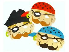 x 6 Pirata Niños Foam Máscaras - Disfraz - Relleno Bolso Fiesta - Máscara
