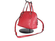GUCCI Guccissima Leather Red Mini Handle Bag Shoulder Bag GH2427