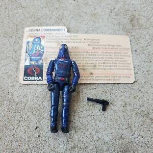 Vintage GI Joe Figure Hooded Cobra Commander complete with file card