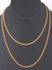 FASHION GOLD FILLED ROPE CHAIN NECKLACE 5542B