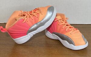 Nike Air Jordan XII Toddler Size 10C Retro Racer Pink White Silver Punch 819666