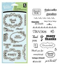 Fiskars Rubber STAMPS - Grateful Thanks Thank You Friend You're The Best